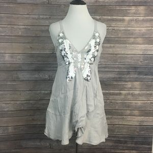 Free People Butterfly Sequin Dress